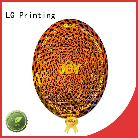 LG Printing silver hologram stickers manufacturer for door