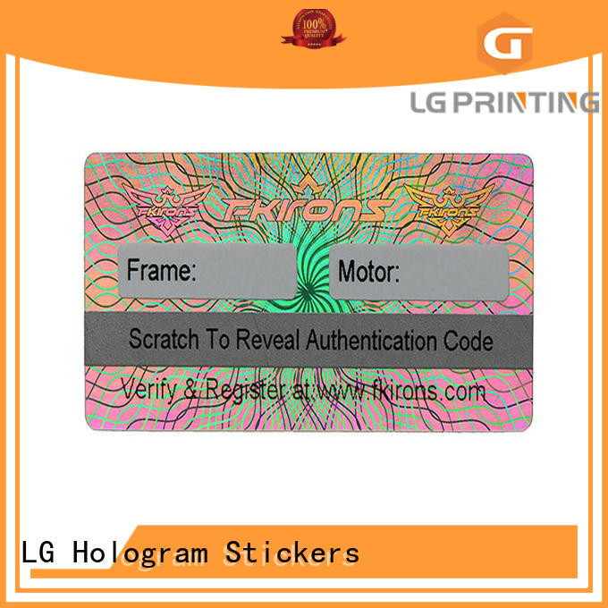 LG Printing colorful dvd security stickers supplier for refrigerator