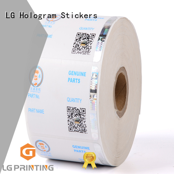 LG Printing randomly holographic sticker manufacturer for goods
