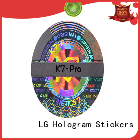 LG Printing time diy hologram sticker label for door