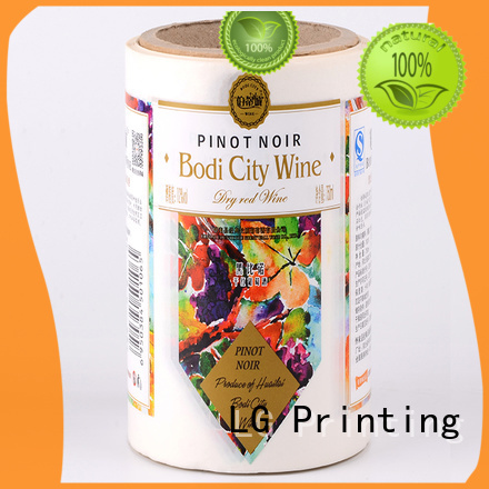 glossy vinyl labels for roller bottles factory for wine bottle