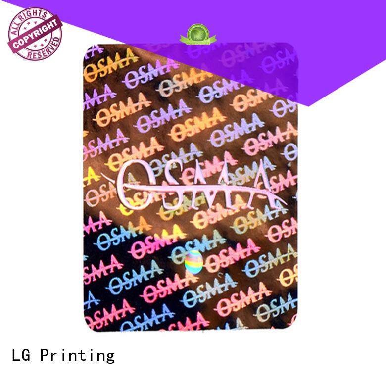 numbering holographic sticker paper supplier for table LG Printing