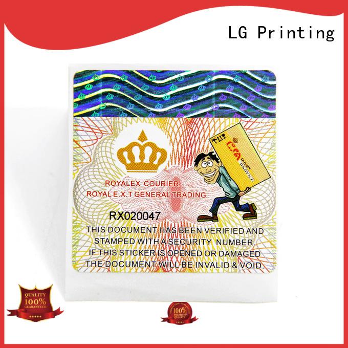 LG Printing custom wine labels printing Suppliers for bag