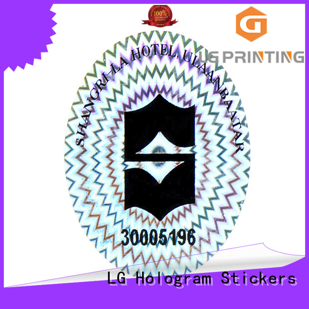 LG Printing various custom hologram sticker holographic for refrigerator