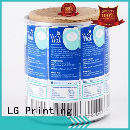 vinyl labels for jars bopp for bottle LG Printing