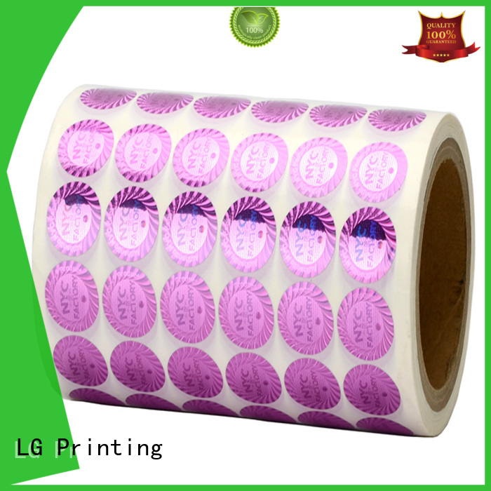 authentic holo stickers printing manufacturer for box