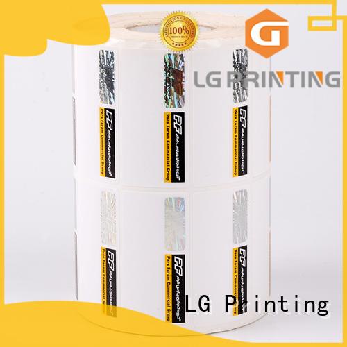 LG Printing silver hologram sticker supplier series for bag