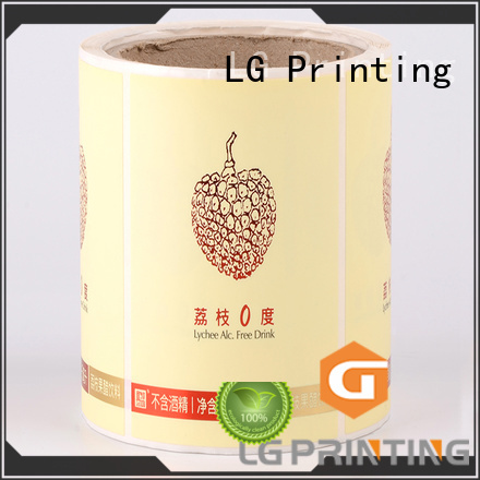 LG Printing red plastic stickers supplier for cans