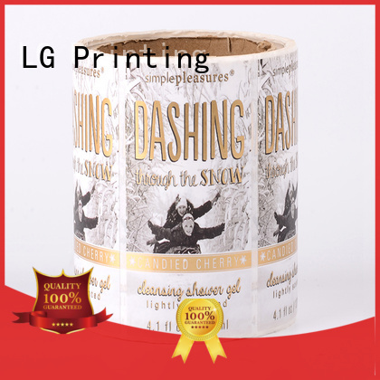 LG Printing printed adhesive labels for bottles bopp for jars