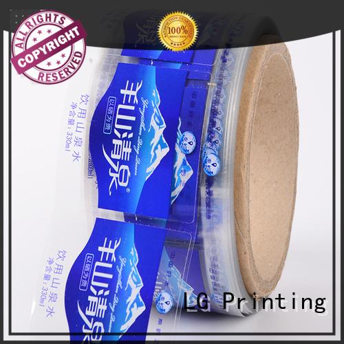 stickers sticker transparent LG Printing Brand self adhesive label manufacture