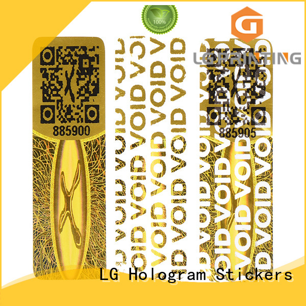 LG Printing authentic holo stickers label for table