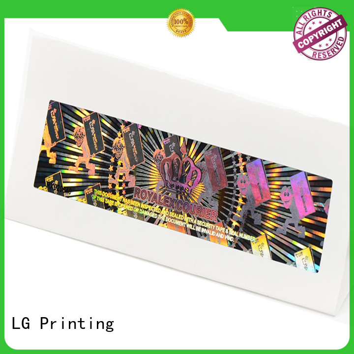LG Printing various hologram printing label for refrigerator