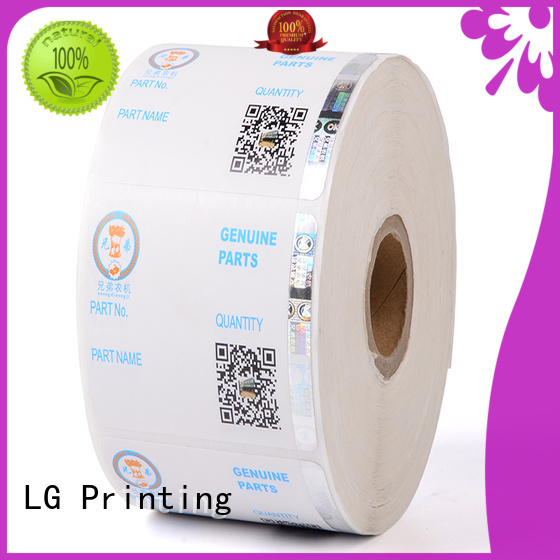 LG Printing stamping delta security sticker 122 for bag