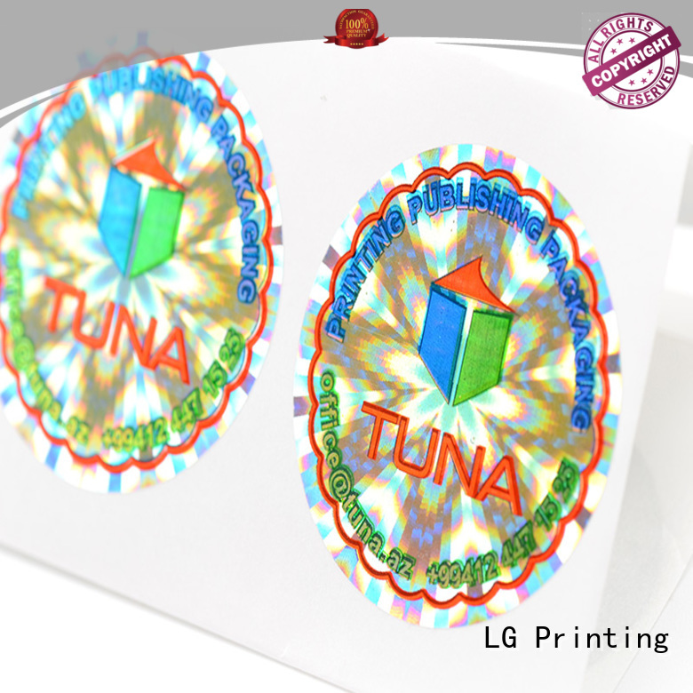 3d hologram sticker security customized thickness label LG Printing Brand