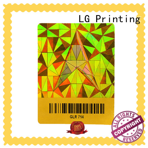 LG Printing void hologram printing supplier for table