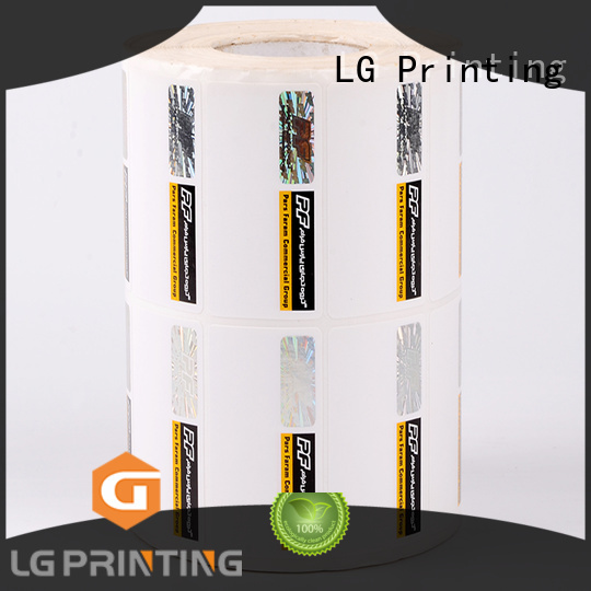 LG Printing counterfeiting custom made hologram stickers series for products