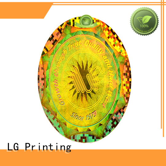 LG Printing code pvc sticker printing label for table