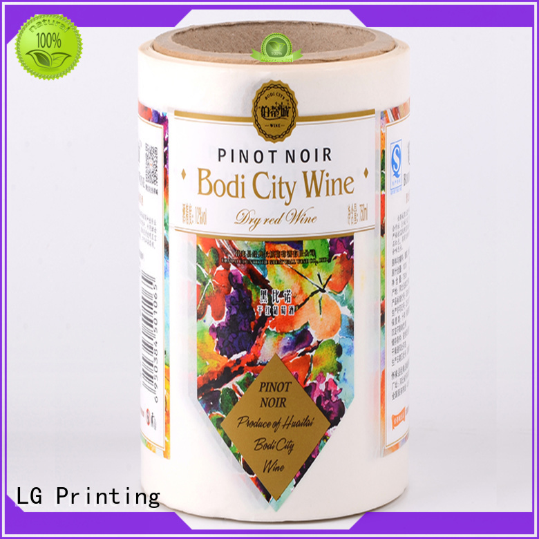 LG Printing foil adhesive labels series for wine bottle