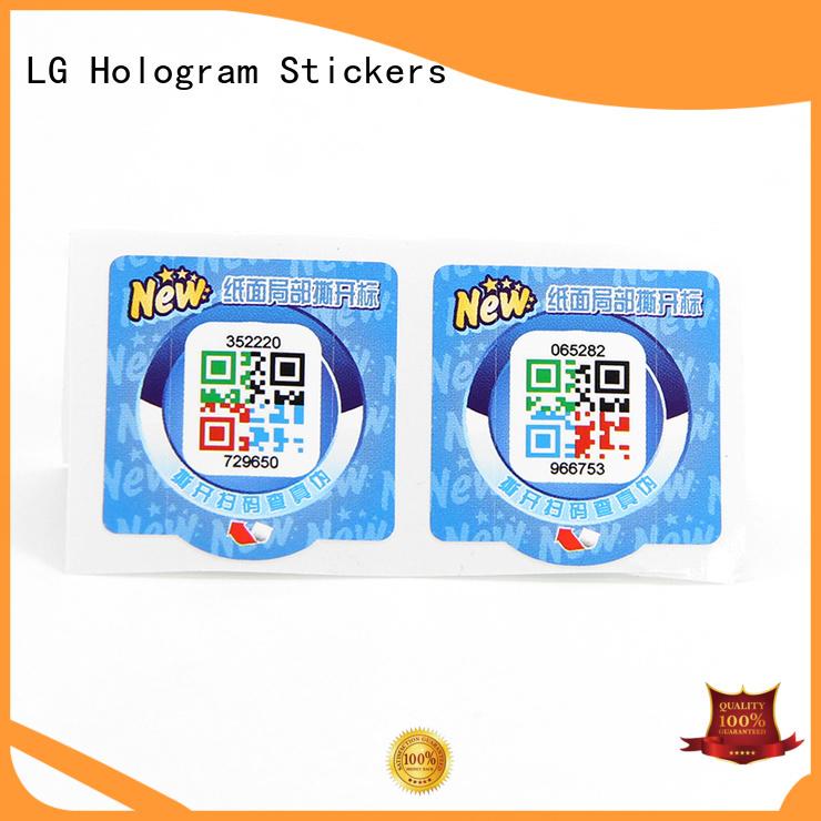 Wholesale custom hologram labels Suppliers for bag