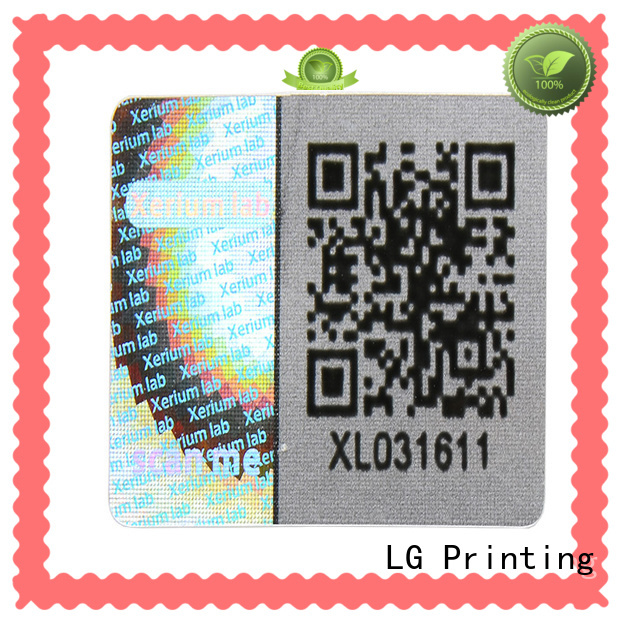 LG Printing various holographic stickers custom label for box