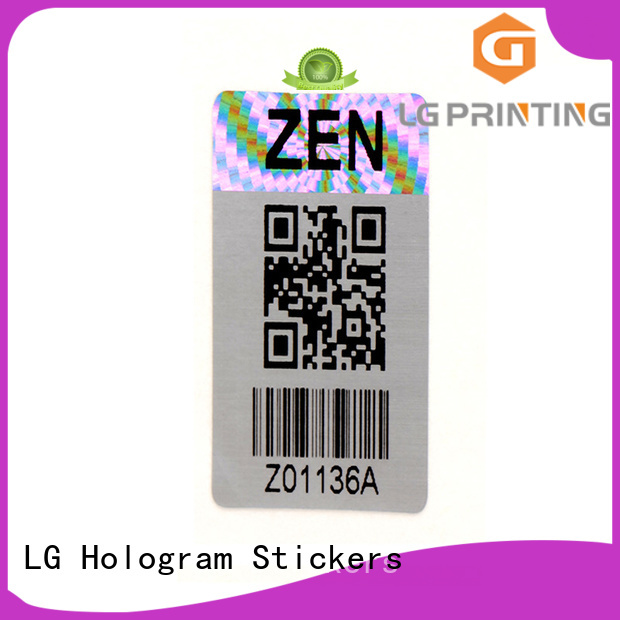 LG Printing demelized hologram printing machine logo for refrigerator