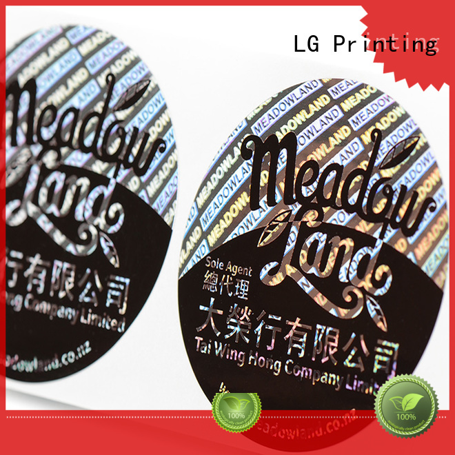 Hot triangle hologram sticker transparent holographic LG Printing Brand