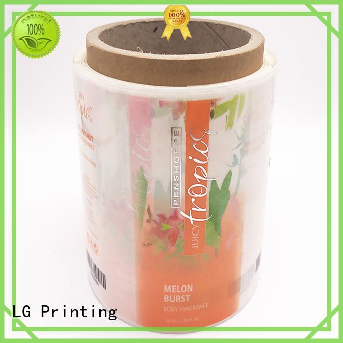 LG Printing pvc custom vinyl stickers supplier for jars