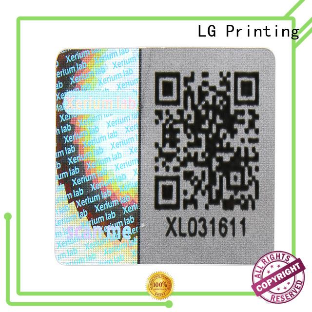 LG Printing scratched sticker hologram manufacturer for table