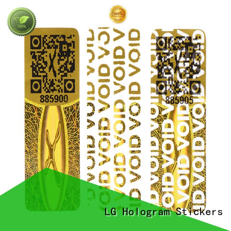 LG Printing round hologram sticker paper label for refrigerator