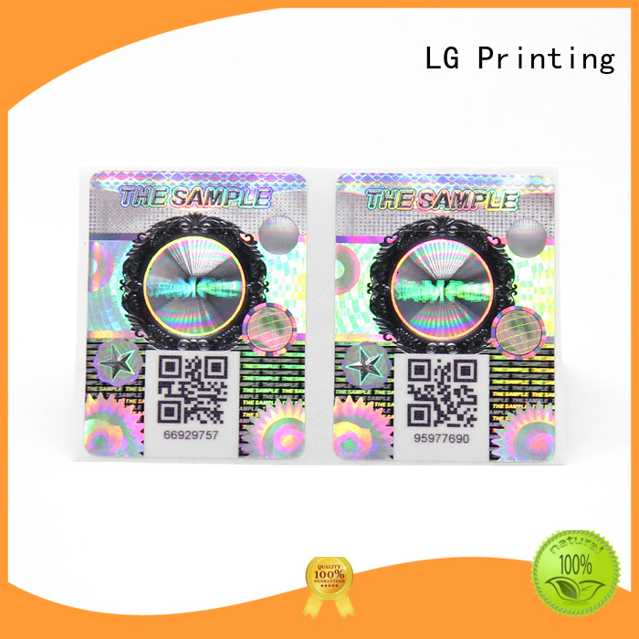 LG Printing Wholesale anti counterfeiting measures manufacturers for box