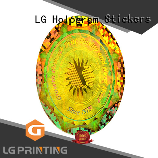 LG Printing round custom hologram label for table