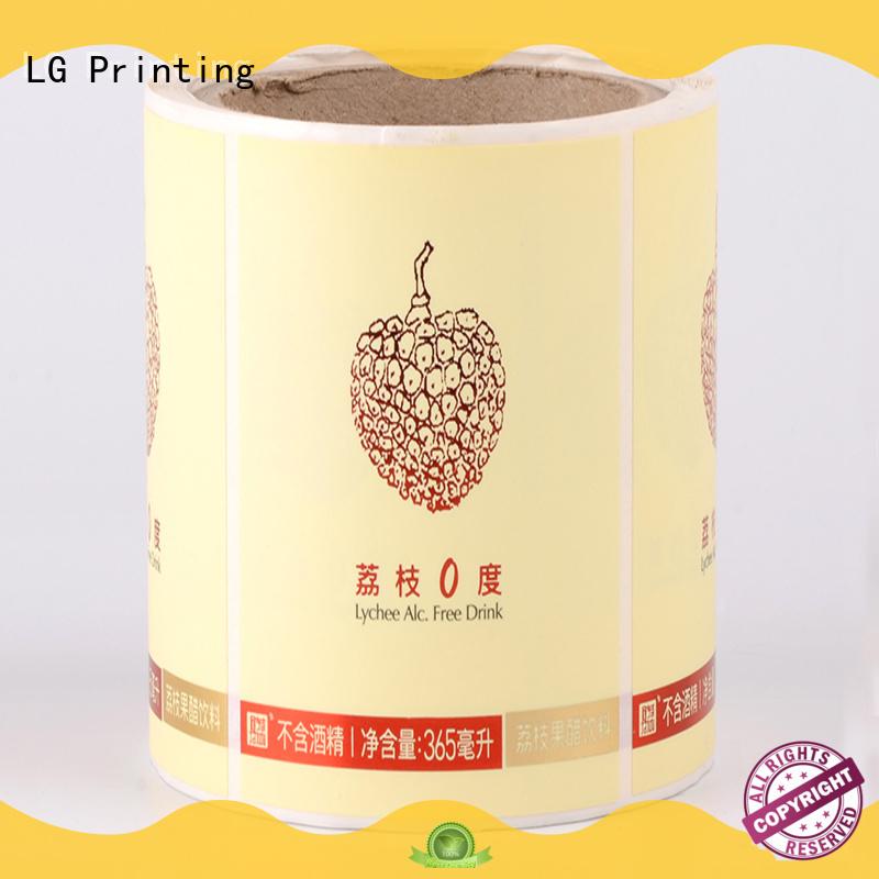 waterproof food packaging materials red series for wine bottle