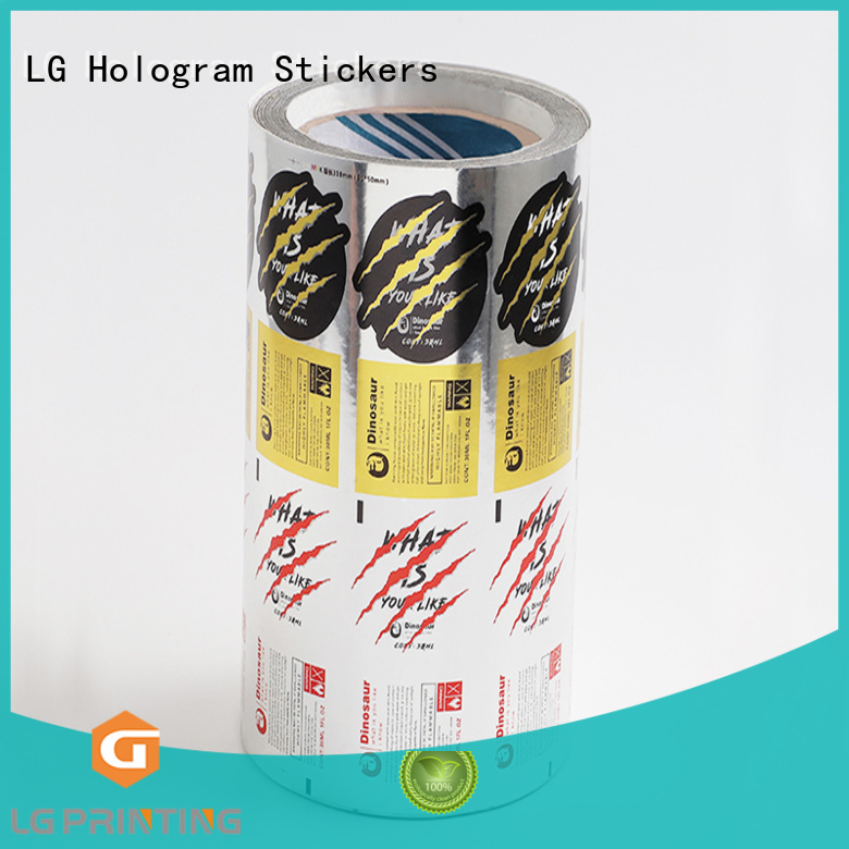 LG Printing transparent sticker factory series for bottle