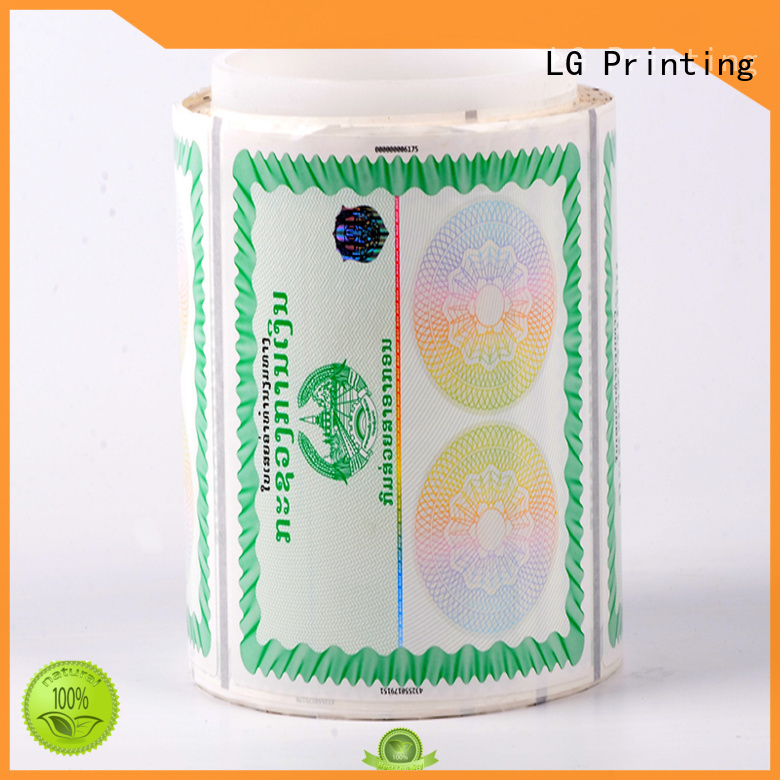 counterfeiting custom size labels stamping supplier for bag