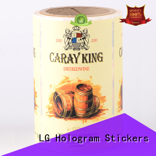 printed plastic stickers pvc factory for cans