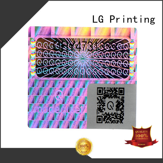 LG Printing silver security hologram sticker label for door