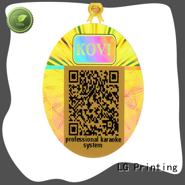 LG Printing scratched hologram printing manufacturer for table