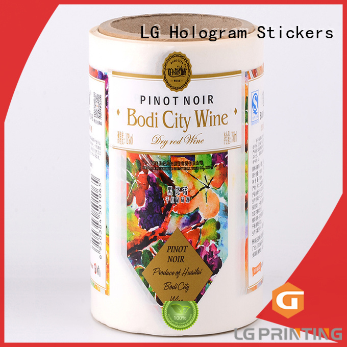 custom product labels silver for wine bottle LG Printing