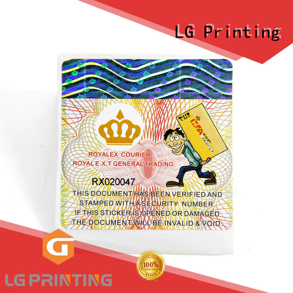 LG Printing New security seal Supply for box