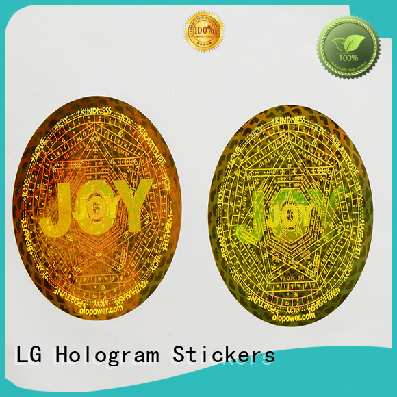 printing label void hologram sticker LG Printing Brand company