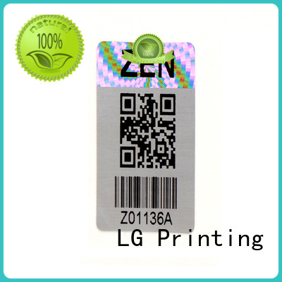 LG Printing scratched custom hologram label for table