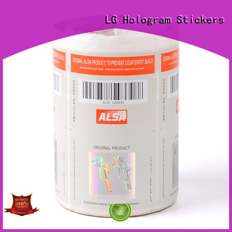 standard security hologram hologram supplier for box