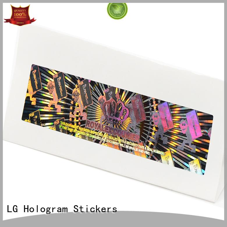 LG Printing round custom made hologram stickers supplier for refrigerator