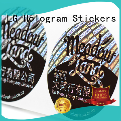 Hot 3d hologram sticker customized thickness LG Printing Brand