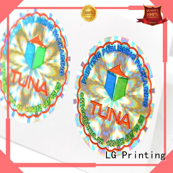 LG Printing Brand triangle void label hologram sticker