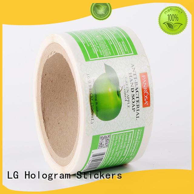 self adhesive label quality foil paper LG Printing Brand