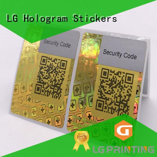 3d hologram sticker rectangle void printing LG Printing Brand hologram sticker