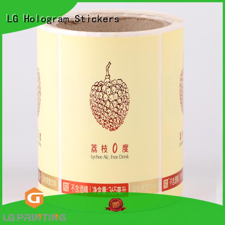 self adhesive label bottle bottle LG Printing Brand company