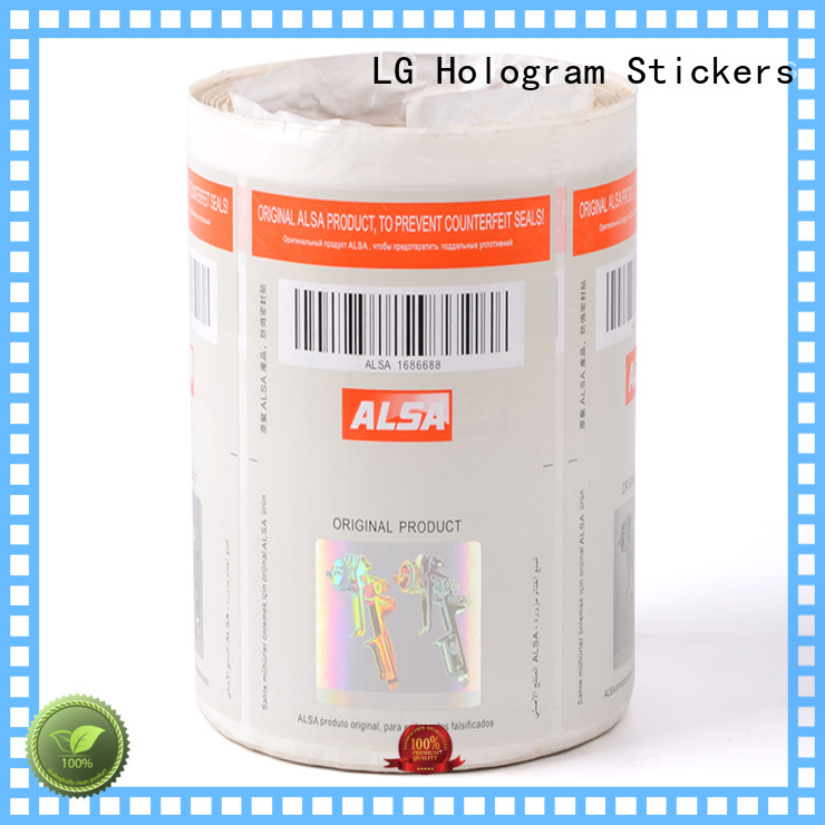 serial number security hologram labels printing sticker LG Printing company