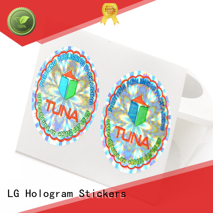LG Printing various holo sticker series for door